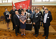 Announcement of the finalists in the 2018 Dairy Competition in the Great Hall at Parliament - Ahuwhenua Trophy BNZ Maori Excellence in Farming Award, 22 February 2018. Photo by Simon Runting / alphapix<br /> <br /> CONDITIONS of USE:<br /> <br /> FREE for editorial use in direct relation the Ahuwhenua Trophy competition. ie. not to be used for general stories about the finalist or farming.<br /> <br /> NO archiving of images. NO commercial use. <br /> Please contact John@alphapix.co.nz if you have any questions