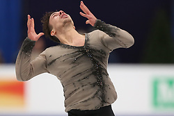 January 17, 2018 - Moscow, Russia - Figure skater Jorik Hendrickx of Belgium performs his short program during a men's singles competition at the 2018 ISU European Figure Skating Championships, at Megasport Arena in Moscow, Russia  on January 17, 2018. (Credit Image: © Igor Russak/NurPhoto via ZUMA Press)