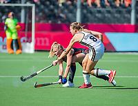 ANTWERPEN -  Caia Van Maasakker (Ned) met Anne Schroder (Ger)  tijdens  de   finale  dames  Nederland-Duitsland  (2-0) bij het Europees kampioenschap hockey.   COPYRIGHT  KOEN SUYK