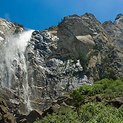 Bridals Veil waterfall. Yosemite Natl. Park. California, USA.