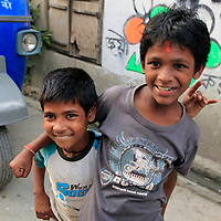 Asia, India, Calcutta. Young boys in Calcutta.