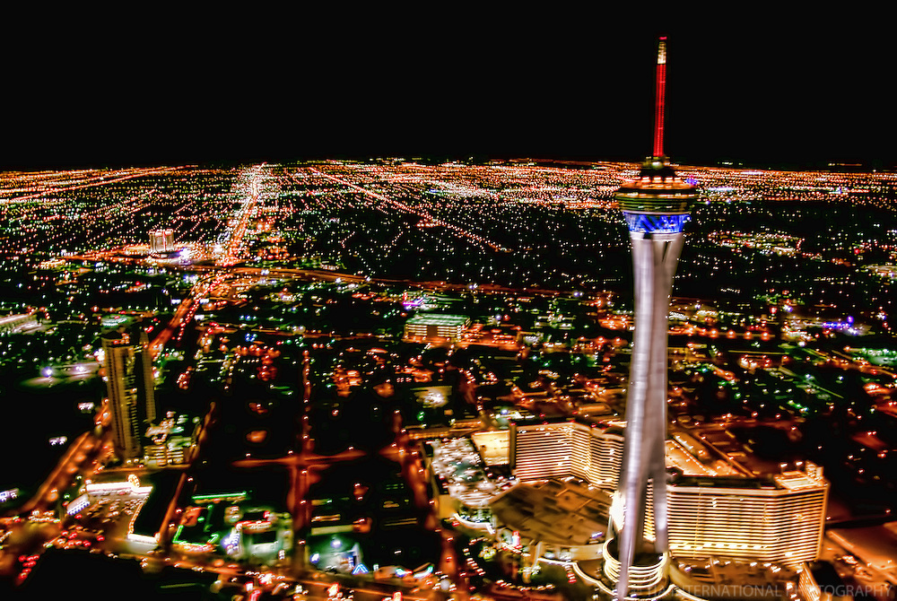 Night Aerial View, Stratosphere Tower
