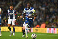 QPR defender Moses Odubajo (22) sprints forward with the ball during the EFL Sky Bet Championship match between West Bromwich Albion and Queens Park Rangers at The Hawthorns, West Bromwich, England on 24 September 2021.