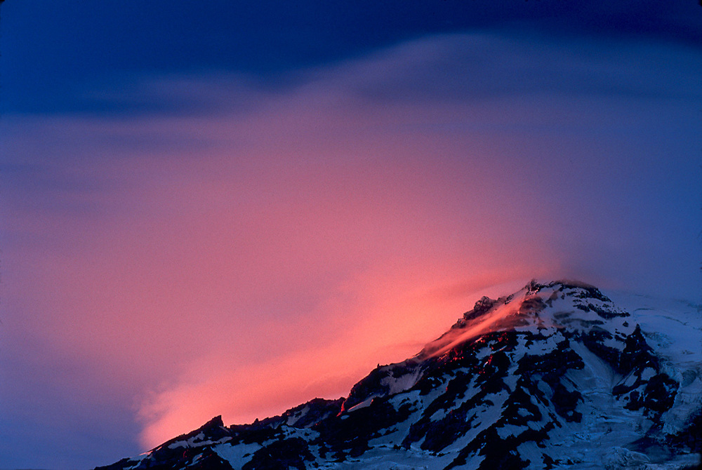 Mount Rainier, evening light, Mount Rainier National Park, Washington, USA
