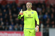 Paul Robinson, the Burnley goalkeeper looks on. Premier league match, Swansea city v Burnley at the Liberty Stadium in Swansea, South Wales on Saturday 4th March 2017.<br /> pic by Andrew Orchard, Andrew Orchard sports photography.
