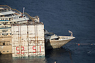 The prow of the ship. The name of it is now visible outside the water