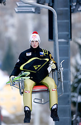 Thomas Morgenstern of Austria  during Trial round of the FIS Ski Jumping World Cup event of the 58th Four Hills ski jumping tournament, on January 5, 2010 in Bischofshofen, Austria. (Photo by Vid Ponikvar / Sportida)