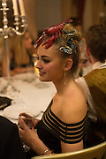LYDIA NEWMAN-SAVILLE, Ball at to celebrateBlanche Howard's 21st and  George Howard's 30th  birthday. Dress code: Black Tie with a touch of Surrealism. Castle Howard. Yorkshire. 14 November 2015