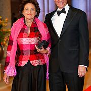 NLD/Amsterdam/20130429- Afscheidsdiner Konining Beatrix Rijksmuseum, Henk Kamp en partner