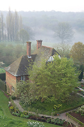 The South Cottage seen from the Tower at Sissinghurst Castle Garden