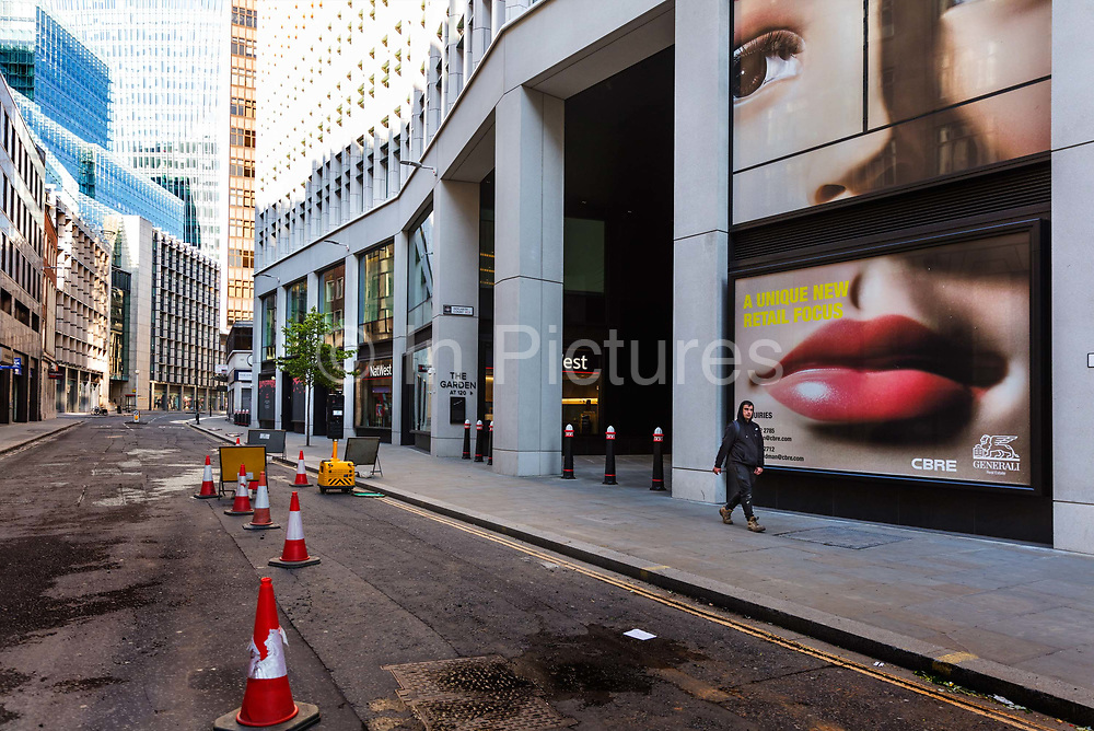 New Development, Fen Court on Fenchurch Street during the coronavirus pandemic on the 2nd May 2020 in London, United Kingdom.