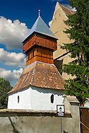 Bell Tower of the Saxon Fortified church of Aţel ( Atel ) , Sibiu, Romania .<br /> <br /> Visit our ROMANIA HISTORIC PLACXES PHOTO COLLECTIONS for more photos to download or buy as wall art prints https://funkystock.photoshelter.com/gallery-collection/Pictures-Images-of-Romania-Photos-of-Romanian-Historic-Landmark-Sites/C00001TITiQwAdS8<br /> .<br /> Visit our MEDIEVAL PHOTO COLLECTIONS for more   photos  to download or buy as prints https://funkystock.photoshelter.com/gallery-collection/Medieval-Middle-Ages-Historic-Places-Arcaeological-Sites-Pictures-Images-of/C0000B5ZA54_WD0s