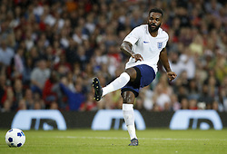 England's Darren Bent scores his side's first goal of the game during the UNICEF Soccer Aid match at Old Trafford, Manchester.