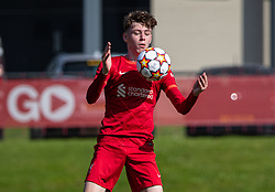 LIVERPOOL, ENGLAND - Wednesday, September 15, 2021: Liverpool's Conor Bradley during the UEFA Youth League Group B Matchday 1 game between Liverpool FC Under19's and AC Milan Under 19's at the Liverpool Academy. Liverpool won 1-0. (Pic by David Rawcliffe/Propaganda)