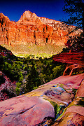 View from the Lower Emerald Pool, Zion National Park, Utah
