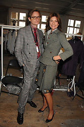 HAMISH BOWLES and NATALIE MASSENET Founder of Net-a-porter.com at Fashion Fringe 2007 held at 1 The Piazza, Covent Garden, London on 20th September 2007.<br /><br />NON EXCLUSIVE - WORLD RIGHTS