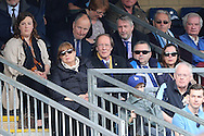 Erik Samuelson, the AFC Wimbledon chairmen (c) looks on from the stands. Skybet football league two match, Wycombe Wanderers  v AFC Wimbledon at Adams Park  in High Wycombe, Buckinghamshire on Saturday 2nd April 2016.<br /> pic by John Patrick Fletcher, Andrew Orchard sports photography.