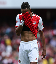 Pierre-Emerick Aubameyang of Arsenal after missing a chance to score - Mandatory by-line: Arron Gent/JMP - 28/07/2019 - FOOTBALL - Emirates Stadium - London, England - Arsenal v Olympique Lyonnais - Emirates Cup