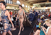 Photo by Mara Lavitt -- Special to the Hartford Courant<br /> October 4, 2015 <br /> Hartford Fashion Week, last day, Union Station, Hartford. Six designers showed their fashions. The full complement of styles from the New Britain sisters designing duo called Saints by S.J.
