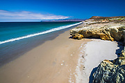 The beach at Skunk Point, Santa Rosa Island, Channel Islands National Park, California USA