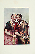 Hindu Natch Girls [Dancers] from Typical Pictures of Indian Natives Being reproduction from Specially prepared hand-colored photographs. By F. M. Coleman (Times of India) Seventh Edition Bombay 1902
