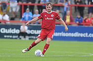 Accrington Stanley Defender, Mark Hughes (3) during the EFL Sky Bet League 1 match between Accrington Stanley and Scunthorpe United at the Fraser Eagle Stadium, Accrington, England on 1 September 2018.