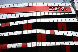Exterior of new flagship Esprit store in ultra modern shopping complex in central Beijing 2009