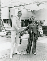 1921 Robert Florey and Ben Turpin at Mack Sennett Studios