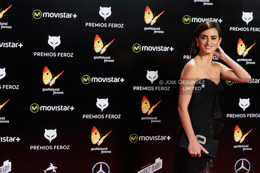 Penelope Cruz attend the 2016 'Feroz' Cinema Awards at Gran Teatro Principe Pio on January 19, 2016 in Madrid, Spain.