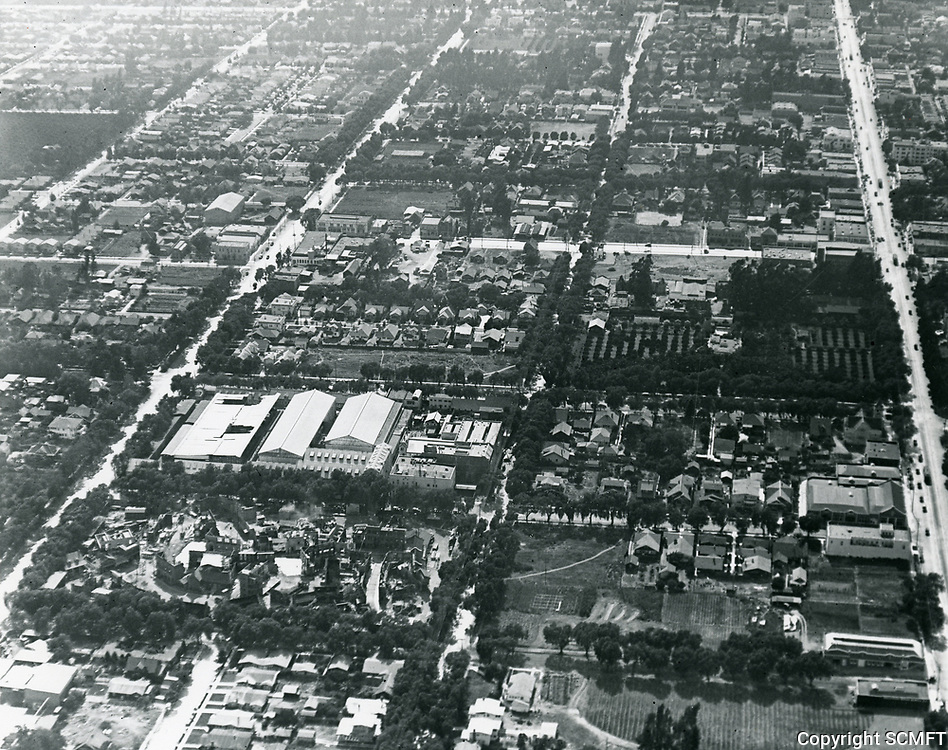1919 Aerial photo of Famous Players Lasky Studios