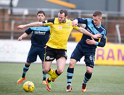 Edinburgh City's Craig Beatie and Forfar Athletic's Thomas O'Brien . Forfar Athletic 1 v 2 Edinburgh City, Scottish Football League Division Two played 11/3/2017 at Station Park.
