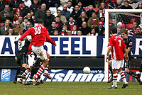 Photo: Chris Ratcliffe.<br />Charlton Athletic v Brentford. The FA Cup. 18/02/2006.<br />Jay Bothroyd (L) scores the second goal for Charlton.