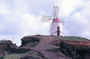 Traditional windmill at Guatiza, Lanzarote, Canary Islands, Spain, 1979