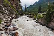 Parvati River near Barshaini. Pictures from the Parvati valley in Kullu, Himachal Pradesh, India