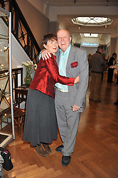 CELIA IMRIE and RICHARD WILSON at a reception to unveil the Limited Centenary Edition of Sir George Frampton's statuette of Peter Pan in aid of the Moat Brae Charity held at The Fine Art Society, 148 New Bond Street, London on 1st May 2012.