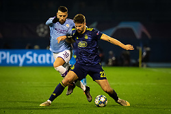 Nicolas Otamendi of Manchester City and Bruno Petković of Dinamo Zagreb  during football match between GNK Dinamo Zagreb and Manchester City in 6th Round of UEFA Champions league 2019/20, on December 11, 2019 in Maksimir, Zagreb, Croatia. Photo by Blaž Weindorfer / Sportida