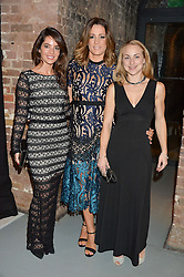 Left to right, KRISTINA VANDERHEYDEN, NATALIE PINKHAM and ELIZE WALBYOFF at the SeriousFun Children's Network London Gala held at The Roundhouse, Chalk Farm Road, London on 3rd November 2016.
