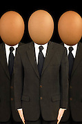 businessmen with egg heads, boffins,<br />