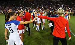 September 19, 2017 - Cincinnati, OH, USA - Cincinnati, OH - Tuesday September 19, 2017: Kelley O'Hara, Megan Rapinoe, USWNT  during an International friendly match between the women's National teams of the United States (USA) and New Zealand (NZL) at Nippert Stadium. (Credit Image: © Brad Smith/ISIPhotos via ZUMA Wire)
