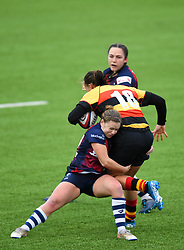 Jo Smith of Bristol Bears Women tackles Sian Hobday of Richmond Women - Mandatory by-line: Paul Knight/JMP - 26/10/2019 - RUGBY - Shaftesbury Park - Bristol, England - Bristol Bears Women v Richmond Women - Tyrrells Premier 15s