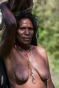 Dani tribe woman (Naklak)<br /> Jiwika village<br /> Suroba<br /> Trikora Mountains<br /> West Papua<br /> Indonesia