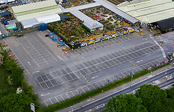 © Licensed to London News Pictures. 16/05/2020. Chessington, UK. In this picture taken on 10/05/2020 the carpark is empty at Chessington Garden Centre in Surrey during lockdown. Some online orders were available for collection at this time.The government has announced a series of measures to slowly ease lockdown, which was introduced to fight the spread of the COVID-19 strain of the coronavirus. Photo credit: Peter Macdiarmid/LNP