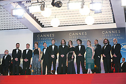 Adele Romanski, Michael Perry, Julio Perez IV, Lucy Kitada, Jake Weiner, Annie Mitchell, David Robert Mitchell, Topher Grace, Mike Gioulakis, Chris Bender, Rich Vreeland and Alan Pao attend the screening of Under The Silver Lake during the 71st annual Cannes Film Festival at Palais des Festivals on May 15, 2018 in Cannes, France. Photo by Shootpix/ABACAPRESS.COM