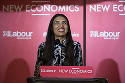 © Licensed to London News Pictures . 04/02/2017 . Liverpool, UK . FAIZA SHAHEEN , Director of The Centre for Labour and Social Studies ( CLASS ) . Labour Party leader Jeremy Corbyn and Shadow Chancellor John McDonnell launch the party's first regional economic conference at the Devonshire House Hotel . Photo credit : Joel Goodman/LNP