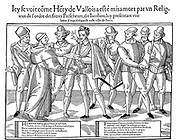 Henry III (1551-1589) King of France from 1584. Assassinated by friar Jacques Clement for his opposition to the Catholic League. Woodcut 1589-1590.