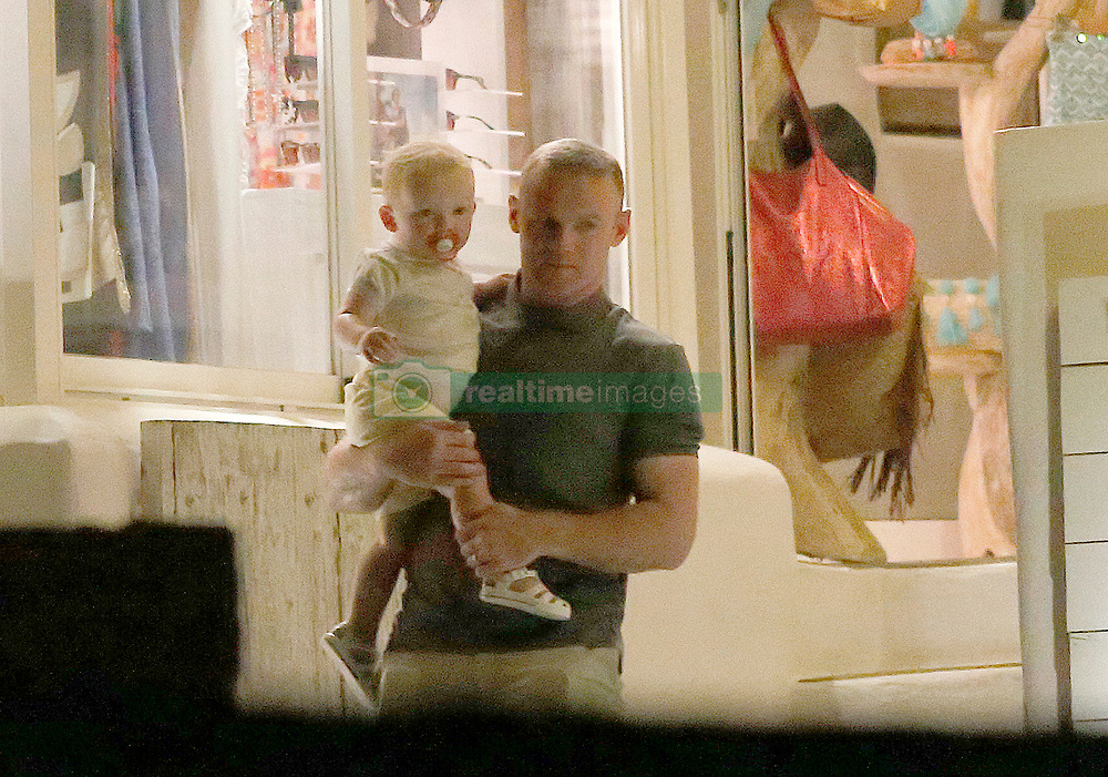 """Wayne Rooney, Manchester United footballer and his wife Coleen Rooney are seen leaving the restaurant """"Sa Punta"""" in Ibiza, Spain in the company of their children and relatives after enjoying a dinner night on the Spanish island. 27 Jun 2017 Pictured: Wayne Rooney. Photo credit: Elkin Cabarcas / MEGA TheMegaAgency.com +1 888 505 6342"""