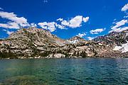 Treasure Lake under the Sierra Crest, John Muir Wilderness, Sierra Nevada Mountains, California USA