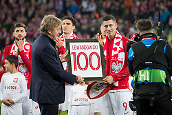 November 15, 2018 - Gdansk, Pomorze, Poland - Zbigniew Boniek (PZPN) and Robert Lewandowski (9) during the international friendly soccer match between Poland and Czech Republic at Energa Stadium in Gdansk, Poland on 15 November 2018  (Credit Image: © Mateusz Wlodarczyk/NurPhoto via ZUMA Press)