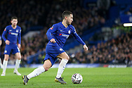Chelsea Midfielder Eden Hazard during the The FA Cup 5th round match between Chelsea and Manchester United at Stamford Bridge, London, England on 18 February 2019.