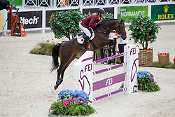 Hamad Ali Mohamed A Al Attiya, (QAT), Whitaker - Team & Individual Competition Jumping Speed - Alltech FEI World Equestrian Games™ 2014 - Normandy, France.<br /> © Hippo Foto Team - Leanjo De Koster<br /> 02-09-14